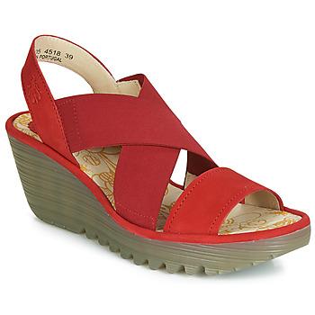 Pantofi Femei Pantofi cu toc Fly London YAJI Roșu