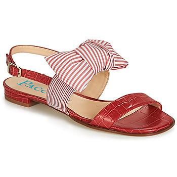 Pantofi Femei Sandale și Sandale cu talpă  joasă Paco Gil BOMBAY Roșu