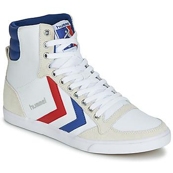 Pantofi Bărbați Pantofi sport stil gheata Hummel TEN STAR HIGH CANVAS Alb / Albastru / Roșu