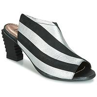 Pantofi Femei Sandale și Sandale cu talpă  joasă Papucei BETINA Negru / Alb
