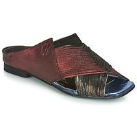 Pantofi Femei Papuci de vară Papucei KEPLER Negru / Roșu-bordeaux