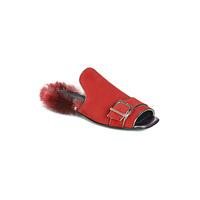 Pantofi Femei Papuci de vară Papucei OBSENTUM Roșu
