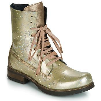 Pantofi Femei Ghete Papucei JANET Verde / Bej