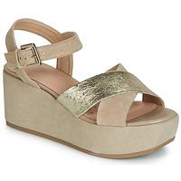 Pantofi Femei Sandale  Geox D ZERFIE Auriu / Taupe