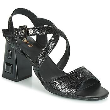 Încăltăminte Femei Sandale și Sandale cu talpă  joasă Geox D SEYLA S. HIGH PLUS Negru