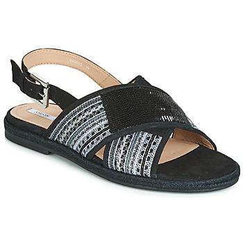 Încăltăminte Femei Sandale și Sandale cu talpă  joasă Geox D KOLEEN Negru