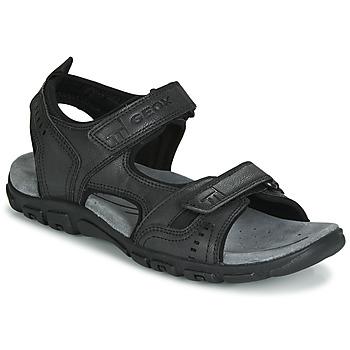 Încăltăminte Bărbați Sandale sport Geox UOMO SANDAL STRADA Negru