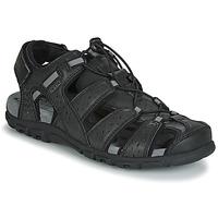 Pantofi Bărbați Sandale sport Geox UOMO SANDAL STRADA Negru