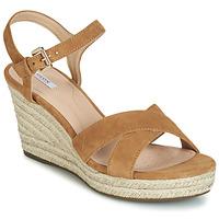 Pantofi Femei Sandale  Geox D SOLEIL Camel