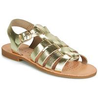 Pantofi Fete Sandale și Sandale cu talpă  joasă Geox J SANDAL VIOLETTE GI Auriu