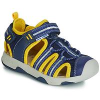Încăltăminte Băieți Sandale și Sandale cu talpă  joasă Geox B SANDAL MULTY BOY Albastru / Galben
