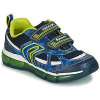 Încăltăminte Băieți Pantofi sport Casual Geox J ANDROID BOY Bleumarin / Galben / Led