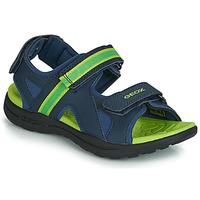 Pantofi Băieți Sandale sport Geox J GLEEFUL BOY Albastru / Galben