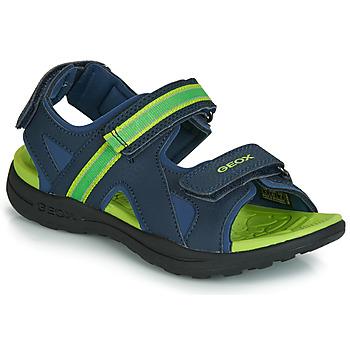 Încăltăminte Băieți Sandale sport Geox J GLEEFUL BOY Albastru / Galben
