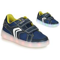 Încăltăminte Băieți Pantofi sport Casual Geox J KOMMODOR BOY Albastru / Led