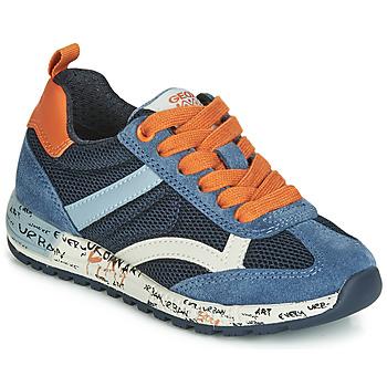 Pantofi Băieți Pantofi sport Casual Geox J ALBEN BOY Bleumarin / Portocaliu