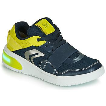 Încăltăminte Băieți Pantofi sport Casual Geox J XLED BOY Albastru / Galben / Led
