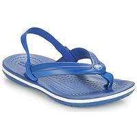 Pantofi Copii Sandale  Crocs CROCBAND STRAP FLIP K Albastru