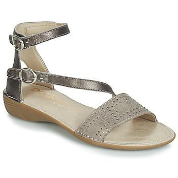 Încăltăminte Femei Sandale și Sandale cu talpă  joasă Dorking 7863 Gri