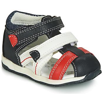 Pantofi Băieți Sandale  Chicco GABRIEL Albastru / Alb / Roșu