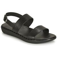 Pantofi Femei Sandale și Sandale cu talpă  joasă FitFlop BARRA Black