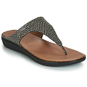 Pantofi Femei Sandale și Sandale cu talpă  joasă FitFlop BANDA II DOTTED-SNAKE Natural / Snake
