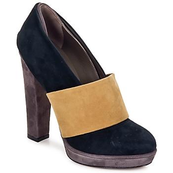 Pantofi Femei Pantofi cu toc Kallisté BOTTINE 5854  grey-mustard