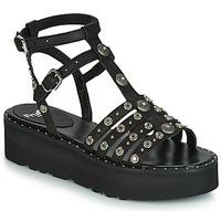Pantofi Femei Sandale și Sandale cu talpă  joasă Fru.it 5433-476 Negru / Ținte