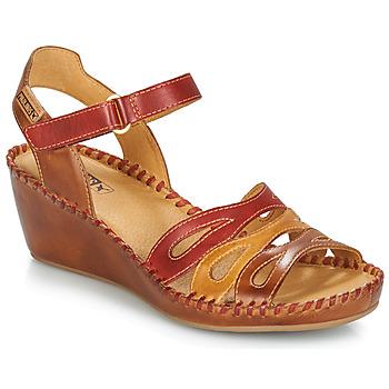 Pantofi Femei Sandale și Sandale cu talpă  joasă Pikolinos MARGARITA 943 Roșu / Maro