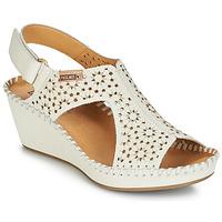 Încăltăminte Femei Sandale și Sandale cu talpă  joasă Pikolinos MARGARITA 943 Alb