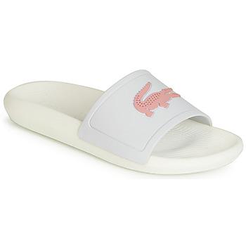 Pantofi Femei Șlapi Lacoste CROCO SLIDE 119 3 Alb / Roz