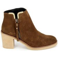Pantofi Femei Botine Porronet Boots 4032 Marron Maro