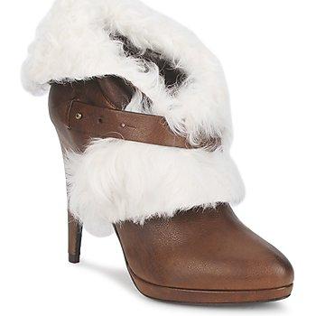Pantofi Femei Botine Roberto Cavalli QPS586-PJ027 Maro / Alb