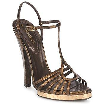 Pantofi Femei Sandale și Sandale cu talpă  joasă Roberto Cavalli QDS627-PM027 Bronz