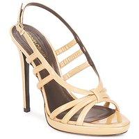Pantofi Femei Sandale și Sandale cu talpă  joasă Roberto Cavalli QDS626-PL028 Bej