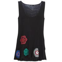 Îmbracaminte Femei Maiouri și Tricouri fără mânecă Desigual MELISA Negru