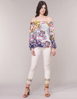 Îmbracaminte Femei Jeans drepti Desigual SARI WHITE Bleumarin