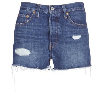 Îmbracaminte Femei Pantaloni scurti și Bermuda Levi's 502 HIGH RISE SHORT Albastru / Medium