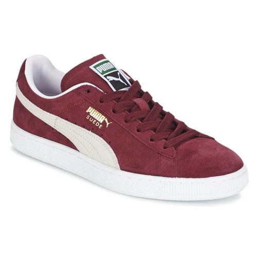 Pantofi Pantofi sport Casual Puma SUEDE CLASSIC + Roșu-bordeaux