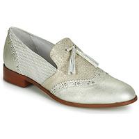 Pantofi Femei Mocasini Regard REVAMI V3 METALCRIS ICE Argintiu