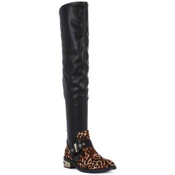 Pantofi Femei Cizme lungi peste genunchi Elvio Zanon PONY NAPPA Nero