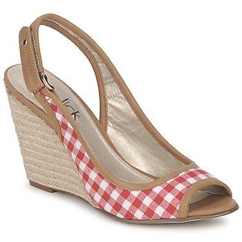 Pantofi Femei Sandale și Sandale cu talpă  joasă StylistClick INES Jude / Natural / Roșu