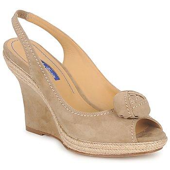 Pantofi Femei Sandale și Sandale cu talpă  joasă Atelier Voisin ALIX Taupe