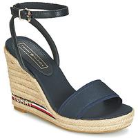 Pantofi Femei Sandale și Sandale cu talpă  joasă Tommy Hilfiger ELENA 78C1 Bleumarin