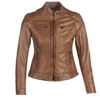 Îmbracaminte Femei Jachete din piele și material sintetic Oakwood LINA Coniac