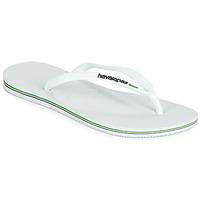 Pantofi Femei  Flip-Flops Havaianas SLIM BRASIL LOGO White