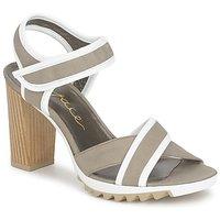 Pantofi Femei Sandale și Sandale cu talpă  joasă Espace GENIEVRE Gri / Alb