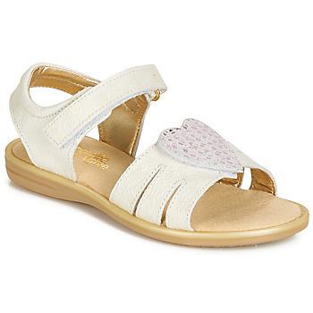 Pantofi Fete Sandale și Sandale cu talpă  joasă Citrouille et Compagnie JAFILOUTE Alb