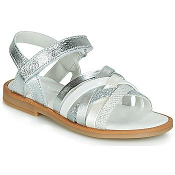 Încăltăminte Fete Sandale și Sandale cu talpă  joasă Citrouille et Compagnie JIRAFOU Argintiu