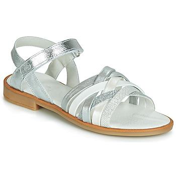 Încăltăminte Fete Sandale și Sandale cu talpă  joasă Citrouille et Compagnie JARILOU Argintiu